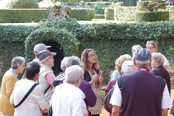 Visite en groupe à Eyrignac