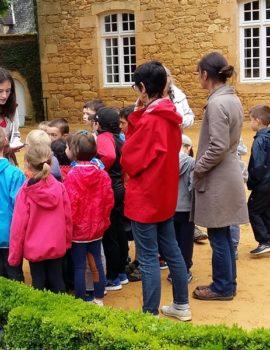 Atelier pédagogique à Eyrignac